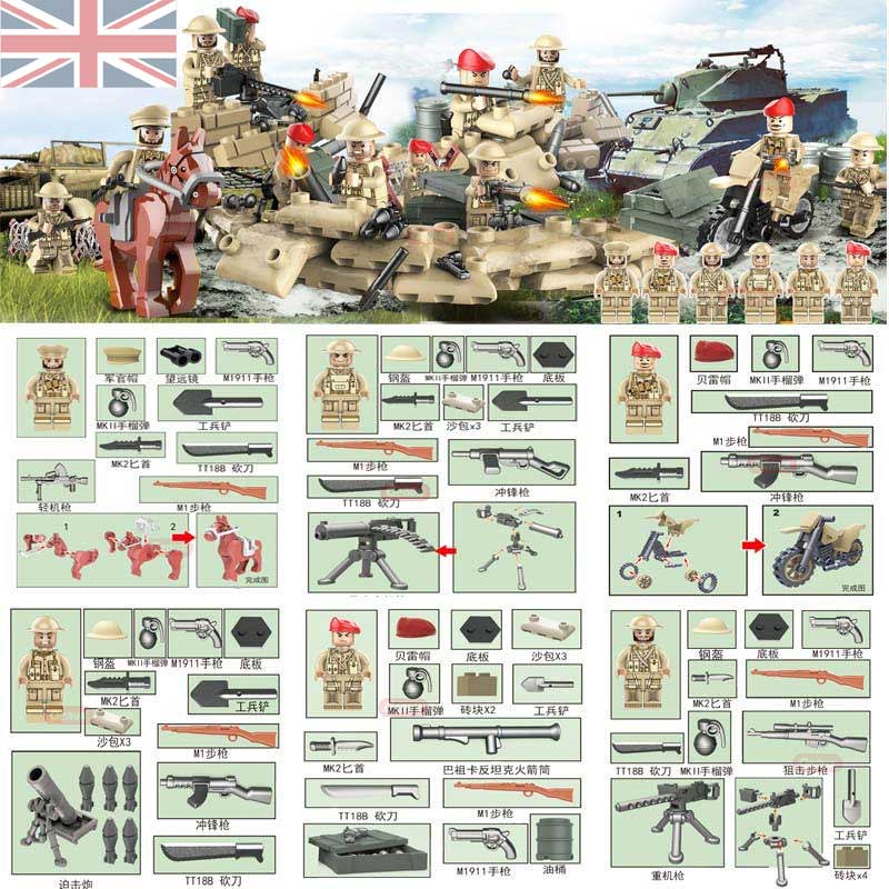 New Arrival World War 2 The Battle Of The Rhine Classic Military Scenes Model WW2 UK British Army Figures Building Block Kid Toy демис руссос man of the world купить
