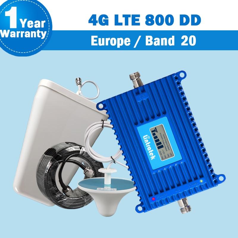 Lintratek NUOVA Band 20 4g LTE (800 DD) europa Mobile Ripetitore Del Segnale Del Telefono Amplificatore 70dB con Antenna lte 800 mhz 4g Ripetitore S22