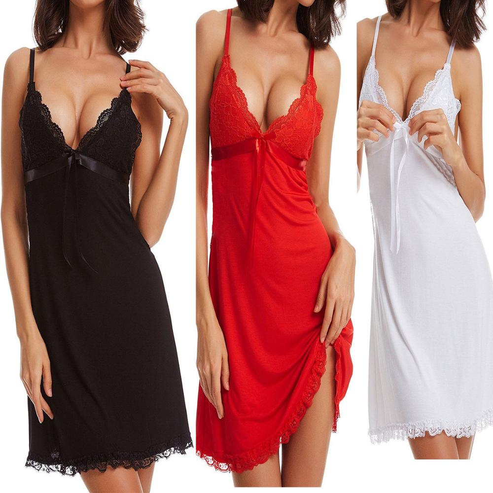 Fashion Sexy Women Lingerie Nightgown Casual Ladies Sleepwear Nightdress Camisola Vestidos Femininos Nightie Women Clothing