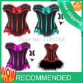free pp Black CorsetLolita Frill Lace Burlesque Fancy Costume Party cheap corsets walsonstyles