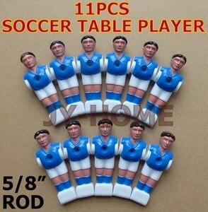 """Image 3 - ÜCRETSIZ KARGO 22 adet/grup mavi/kırmızı 5/8 """"çubuk Langırt langırt futbol adam Oynatıcı erkekler yedek parçalar 02"""