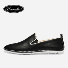 size 37~44 Microfiber leather men flats fashion comfortable 2017 Hecrafted men moccasins #YK8011