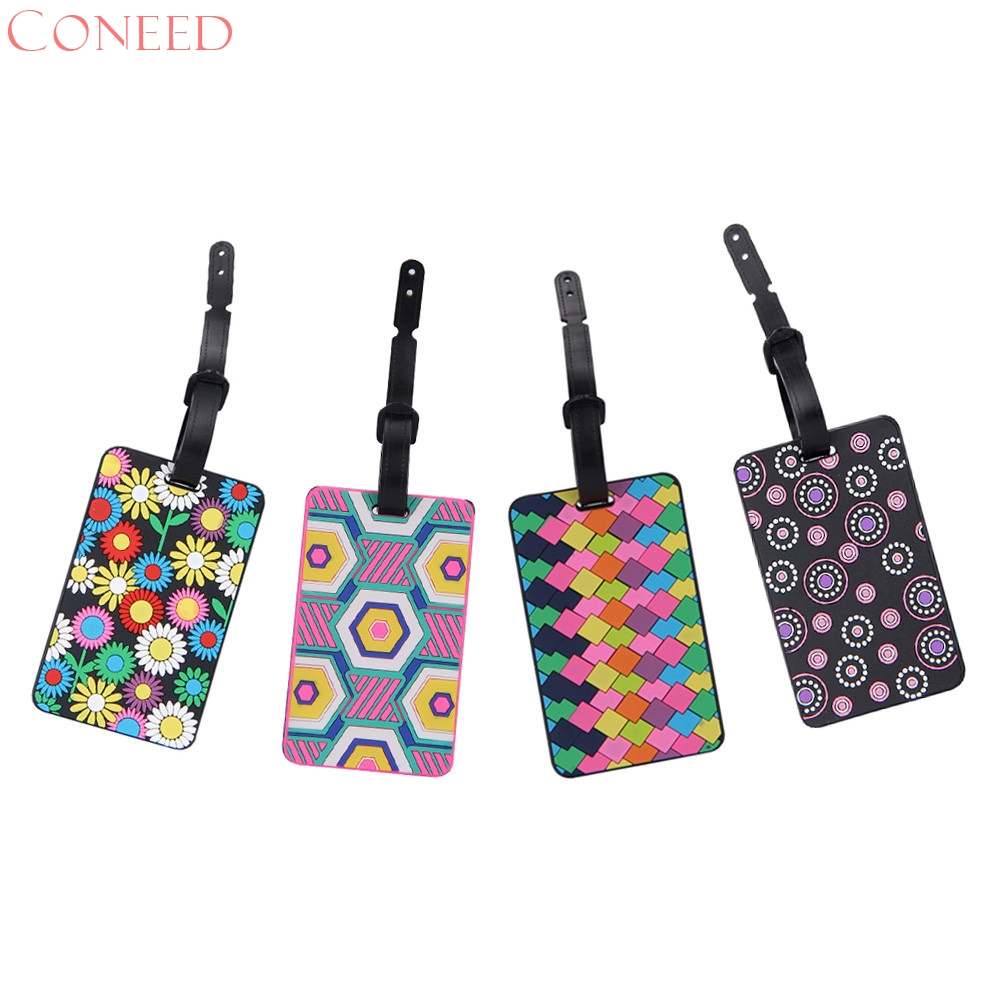 CONEED New Suitcase Luggage Tags ID Address Holder Silicone Identifier Label Juy7 Y15 ...