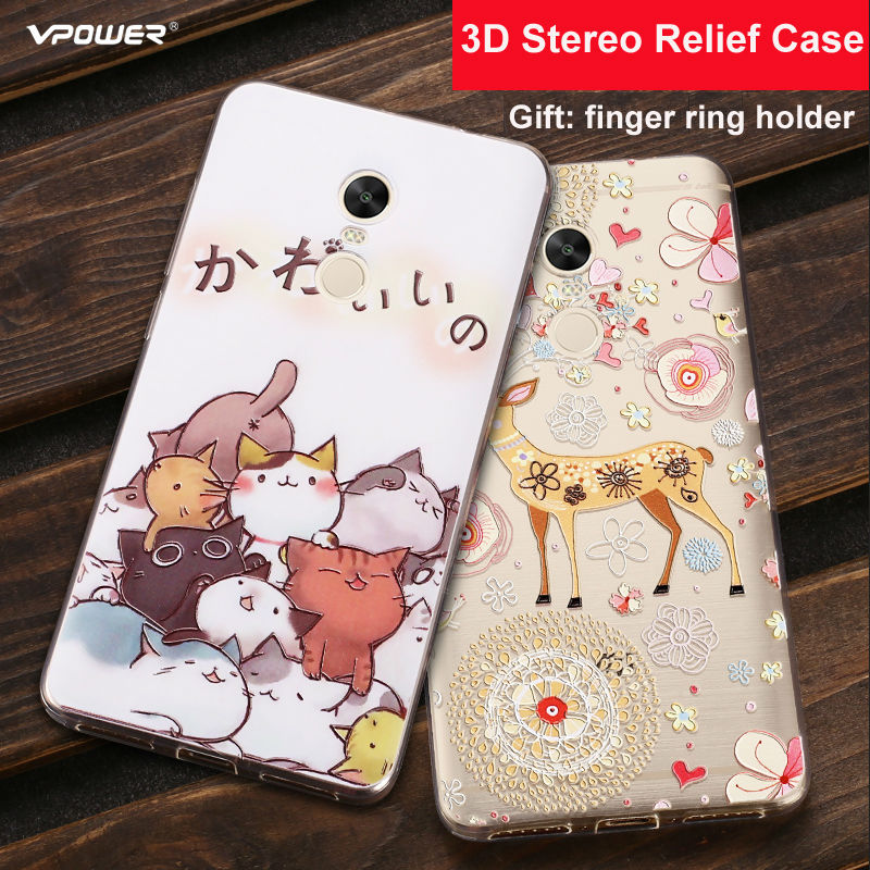 Vpower 3D Relief Cartoon Back Cover para Xiaomi Redmi Note 4x Funda - Accesorios y repuestos para celulares - foto 1