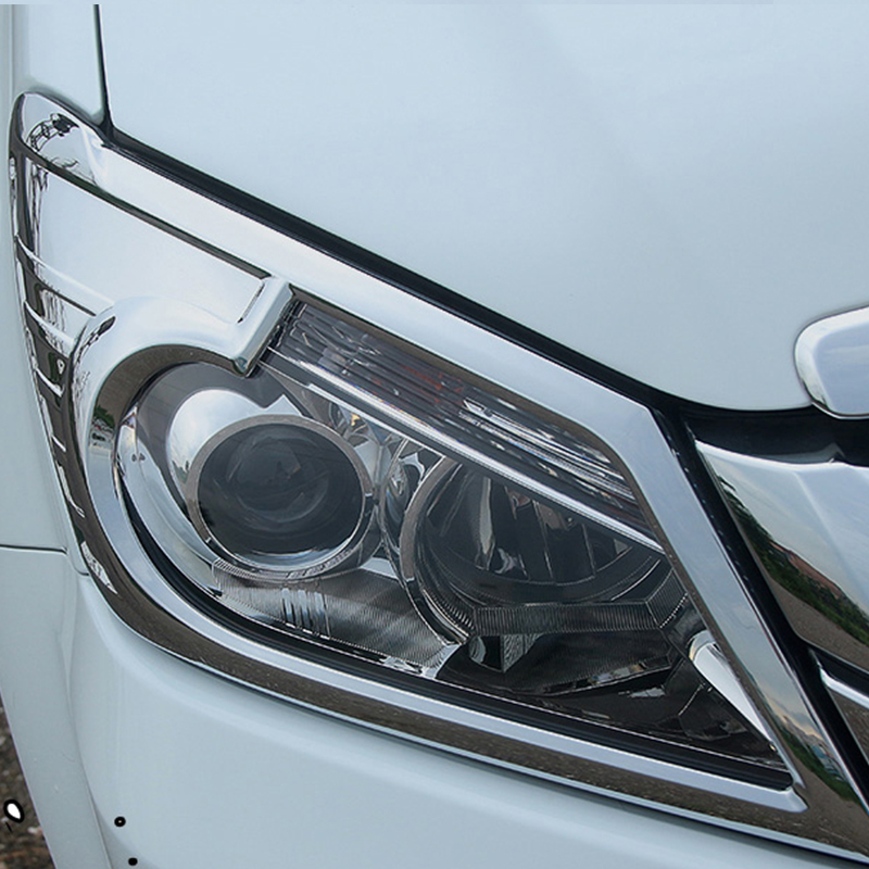 ABS Chrome Car Headlamps head lights Cover Trim Fit For Isuzu MU X 2015 2016 car accessories