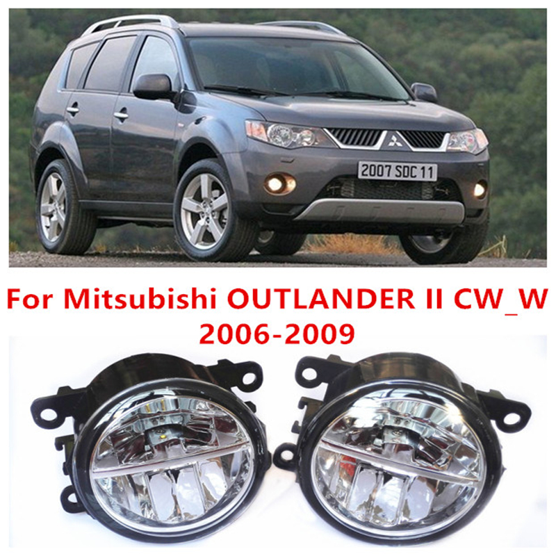 For Mitsubishi OUTLANDER 2/II CW_W  2006-2009  10W Fog Light LED DRL Daytime Running Lights Car Styling lamps seintex 00560 для mitsubishi outlander ii 2006 2012