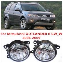 Para Mitsubishi OUTLANDER 2/II CW_W 2006-2009 10 W Luz de Niebla del LED DRL Daytime Running Lights Coche lámparas de estilo