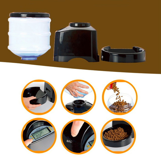 5.5L Automatic Dog Feeder with LCD Screen 2
