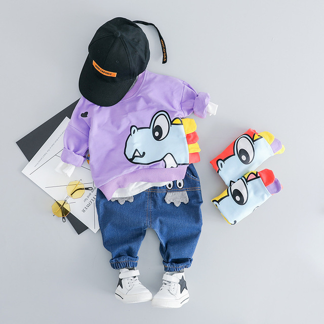 Baby Sport Suit for Boy Cartoon T Shirt Pants 2pcs Kids Outfits 2019 Spring Baby Girls Boys Clothing Sets Toddler Girl Clothes