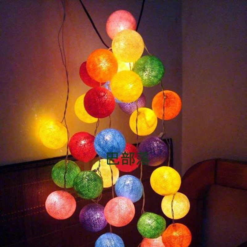 Decorative Light Balls Magnificent 25M20Pcs Rainbow Wool Ball Christmas String Light Novelty Inspiration