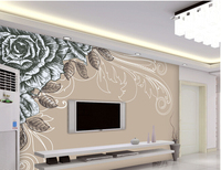 Custom Papel DE Parede Floral Retro Rose Murals For The Sitting Room The Bedroom Wall Waterproof
