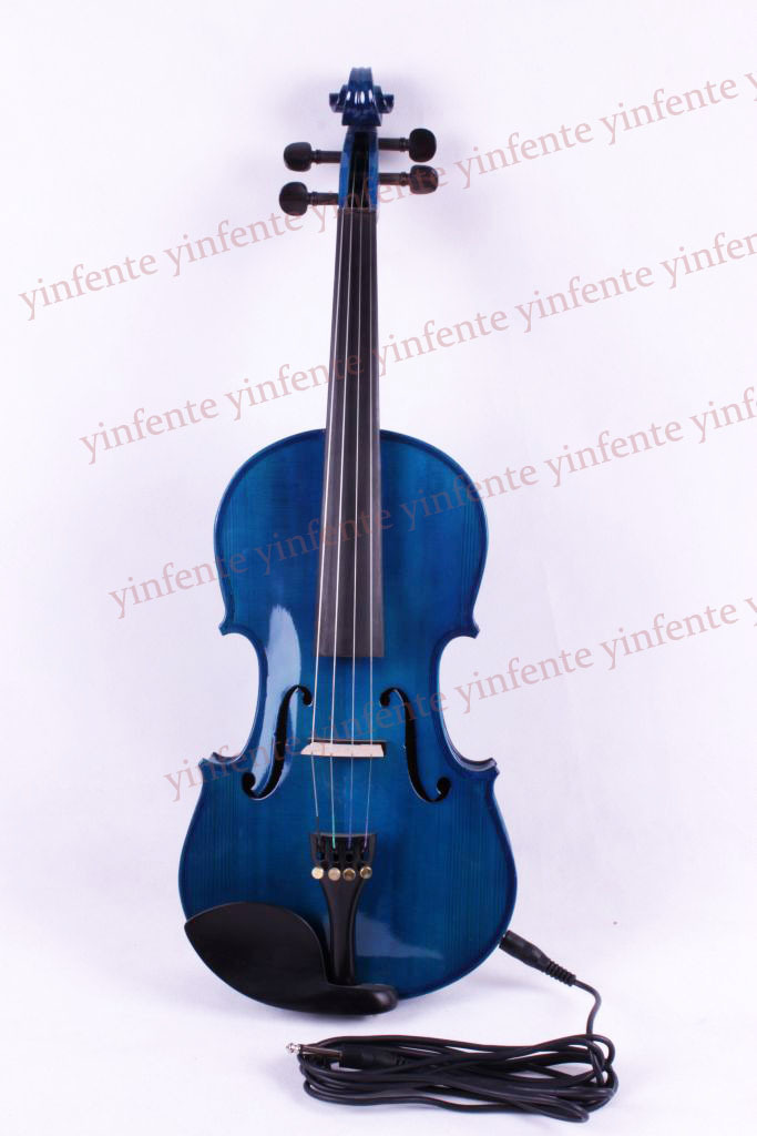 4 string  blue Electric Acoustic Violin 4/4 Full Size Maple Spruce wood advance 4 4 high quality 5 string electric violin yellow 2 pickup violin