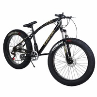 26 21 Inch 7 Speed Snow Bike Double Disc Braking System Bicycle Steel Frame Mountain Bike