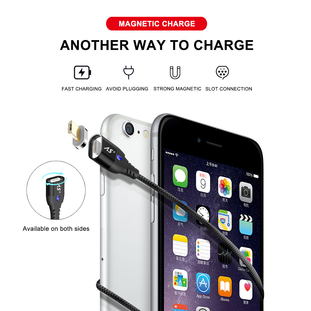 A.S Magnetic Cable Micro USB Type C Super Fast Charging Phone Microusb Type-C Magnet Charger usb c For iphone huawei xiaomi Data 1