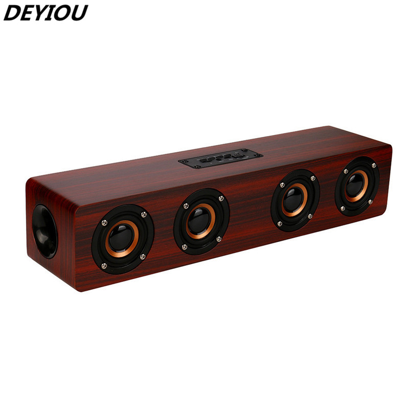 DEYIOU Wireless Bluetooth Speaker Super Bass Stereo Speaker Wood Listen to Music Speaker H3T5 худи print bar listen music