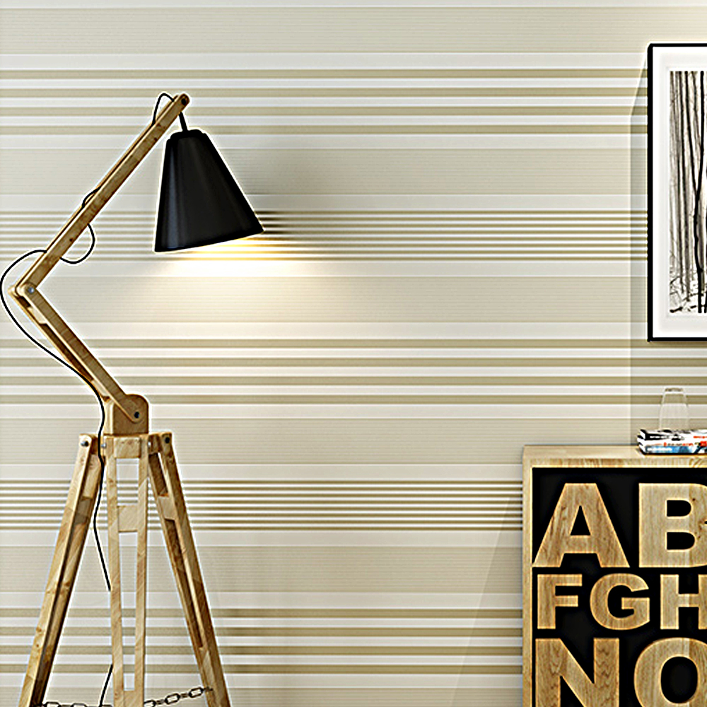 New Modern Feature Designer Striped Decor Wallpaper Black White ...