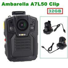 Darmowa dostawa! Kamera IR Night Vision HD 1296 P Policja Ciała 6-hour Rekord Wbudowana 32 GB 140 Stopni Obiektyw