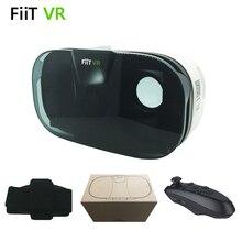 """FIIT VR 2Nแว่นตา3DเสมือนจริงG Oogleกระดาษแข็งสำหรับ""""4.0-6.5″มาร์ทโฟนโทรศัพท์+สีดำบลูทูธไร้สายGamepad"""