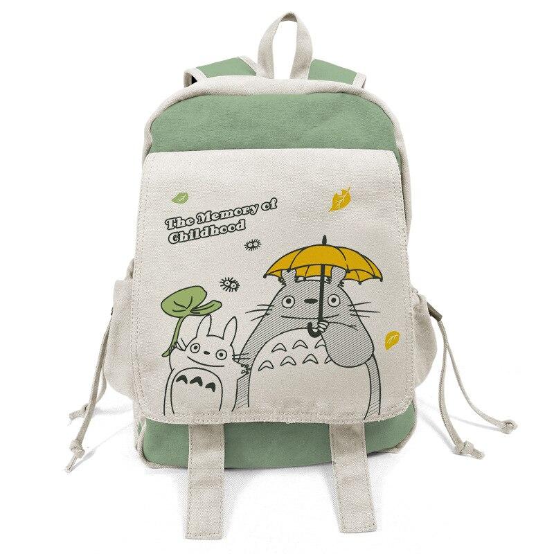 Anime Totoro Tokyo Ghoul Backpacks Shoulder Bag Cool Children Rucksack Casual School Bag Bookbag For Teenage Girls Mochila anime tokyo ghoul cosplay anime shoulder bag male and female middle school student travel leisure backpack