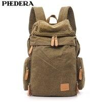 PHEDERA Hot Super Quality Wash Canvas Men Backpack Shoulder Bag Retro Men's Travel Backpacks Male Pack Bags Mochila