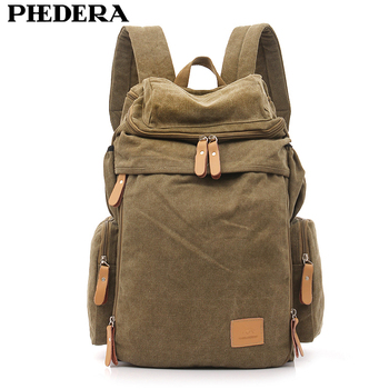 PHEDERA Hot Super jakości mycia męski płócienny plecak torba na ramię Retro męska plecaki podróżne męskie torba Mochila
