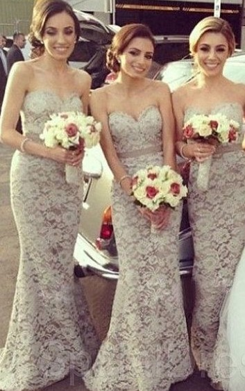 Lace 2019 Cheap Bridesmaid Dresses Under 50 Mermaid Sweetheart Long Wedding Party Dresses For Women