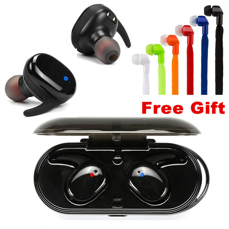 E-XY Capsule Wireless TWS Earbuds V5.0 Bluetooth Earphones Headset Deep Bass Stereo Sound Sport Headphone For Samsung Iphone