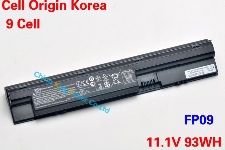 93WH Korea Cell New Laptop Battery FP09 for HP ProBook 440 445 450 455 470 FP09 FP06 HSTNN-LB4K HSTNN-LB4J HSTNN-W93C korea cell original new laptop battery for hp elitebook 2170p hstnn ub3w hstnn ob3l hstnn yb3l hstnn yb3m mi06 11 1v 48wh