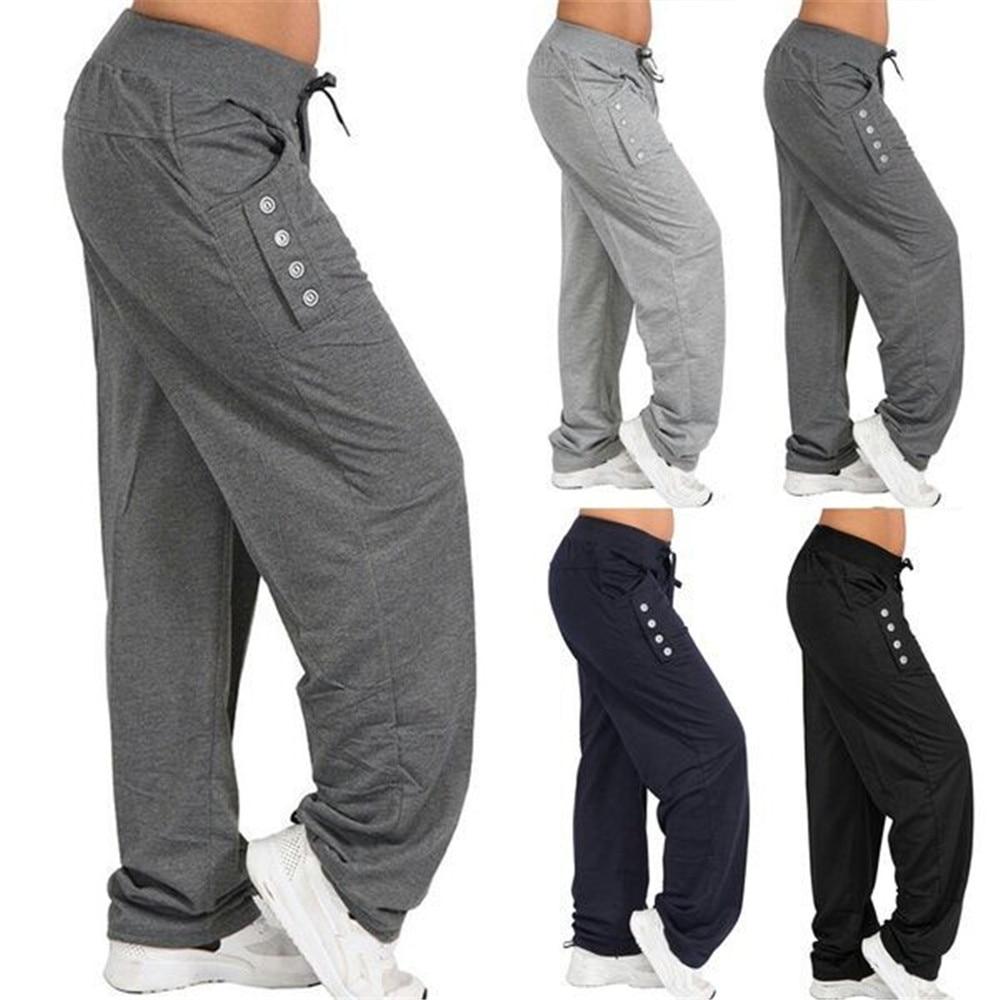 Mens Loose Pants Beach Drawstring Yoga Home Jogging Casual Sport Trousers US