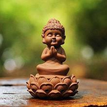 Сказочный Сад, миниатюра керамический Маленький Будда сидящий на Лотос молились/благовония Горелки Мини Сад Decora Миниатюрный