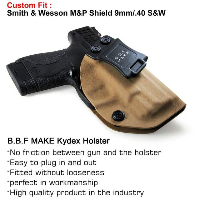 B B F Make IWB KYDEX Holster Fits: M&P Shield 9MM/ 40 s&w Gun Holsters  Concealed Carry Bag Guns Concealment Case
