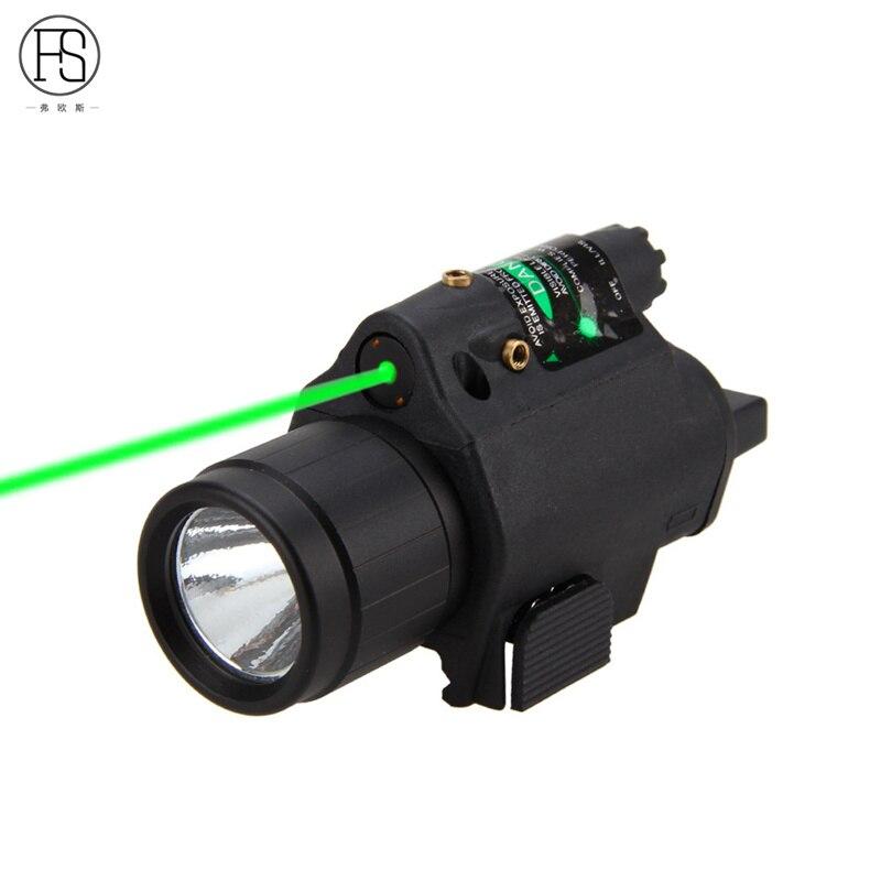Camping 2 en 1 Tactique Regard Vert Laser CREE Q5 LED 300 Lumen M6 Puissant LED lampe de Poche Lanterne Pour Pistolet Gun Vélo vélo
