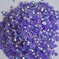 1000 pcs 3mm SS12 AB Geléia de Leite Cor de Resina Strass acrílico Flatback DIY Decoração Nail Art Beads Dark Purple AB J18