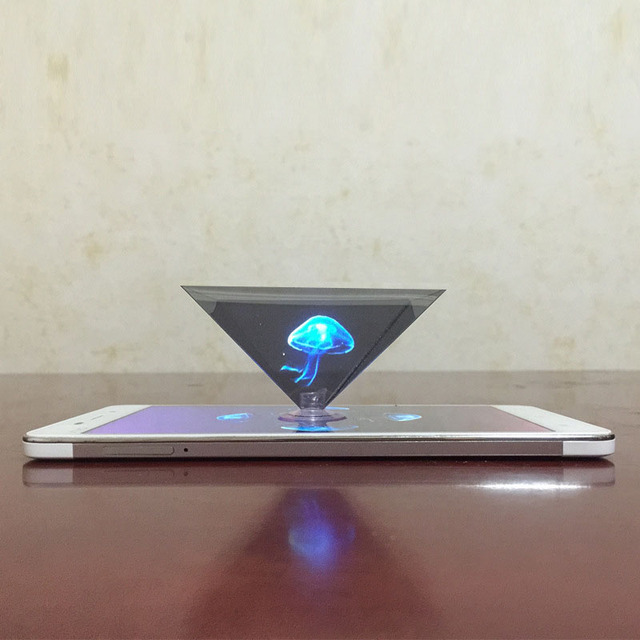 dropshipping 3D Hologram Pyramid Display Projector Video Stand Universal For Smart Mobile Phone SD998