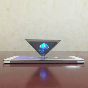 Video-Stand Projector Hologram Pyramid Display Mobile-Phone Universal Smart 3D for SD998