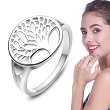 Silver Colors Rings For Women Classic Accessories Sterling Fashion Gifts Mothers Day Birthday Tree Of Life(China)