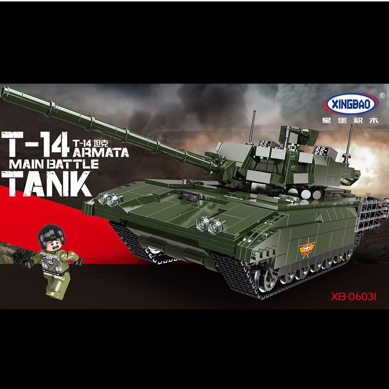 new XINGBAO 06031 1588PCS Military Series The T14 Tank Set Building Blocks Bricks Tank Toys Model Kids Toys Birthday Gifts new winner tank battle military series set diy model building block classic toys holiday gift 305pcs