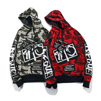Top Quality Mesh Camouflage Patchwork Hoodies Men Women Printed Swag Color Block Pullover Sweatshirts Hip Hop