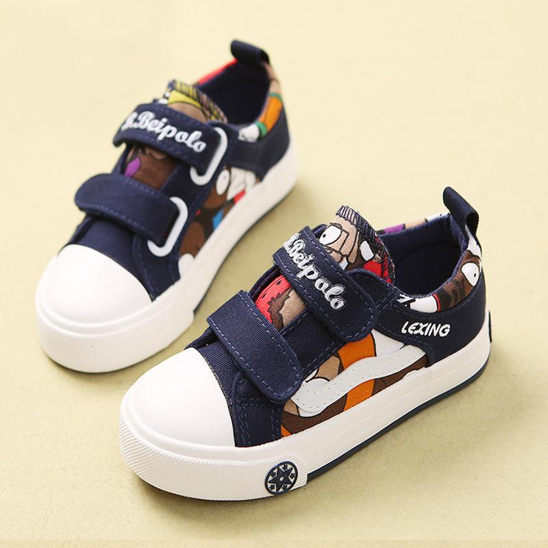 New Children Girls Sport Canvas Shoes Spring Boys Sneakers Brand Breathable Kids Casual Outdoor Student Blue Flat Running ShoesNew Children Girls Sport Canvas Shoes Spring Boys Sneakers Brand Breathable Kids Casual Outdoor Student Blue Flat Running Shoes