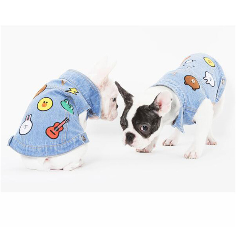 Small Dogs Clothes T Shirts Vests Yorkies French Bulldog For Pet Costume Clotheing Cats Dog Chihuahua manteau pour chien honden