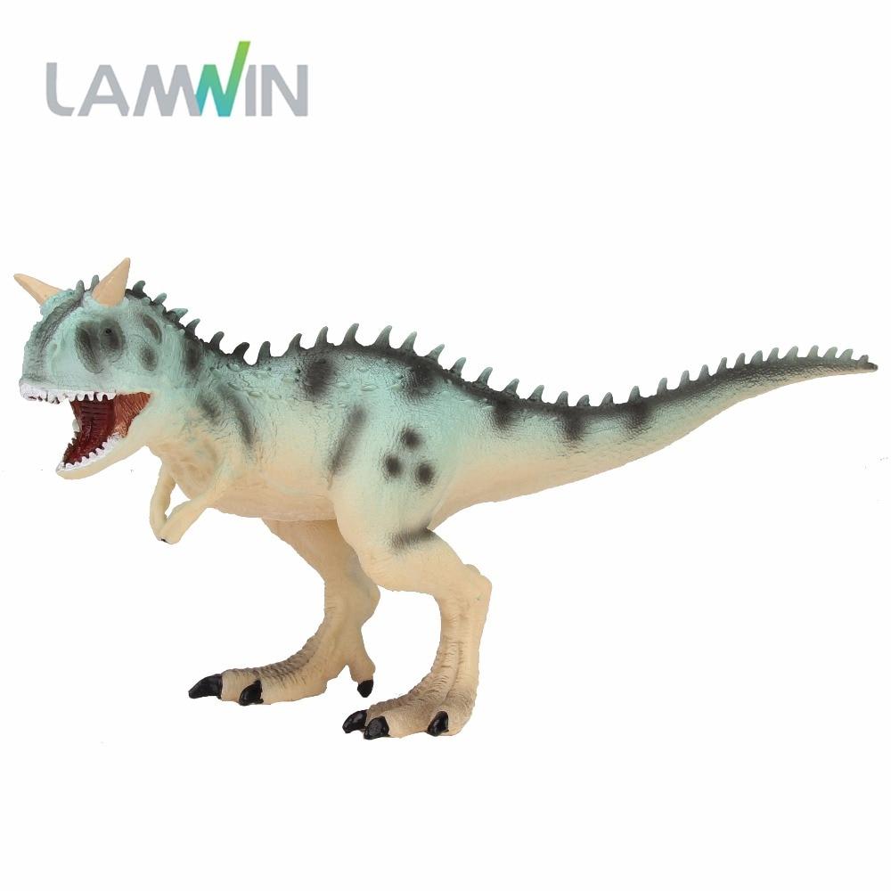 LAMWIN Jurassic Carnotaurus Action Figure Animal Model Collection Souvenir Plastic toy Dinosaur Birthday Gift