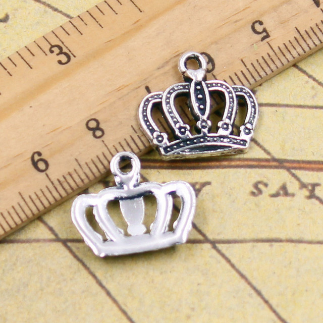 10pcs charms crown 1218mm tibetan silver plated pendants antique 10pcs charms crown 1218mm tibetan silver plated pendants antique jewelry making diy handmade craft mozeypictures Gallery