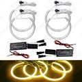 4X 131.5mm Car CCFL Halo Rings Angel Eye Light Headlight Kits for BMW E46,E36,E39,E318A04 Auto Light Yellow #CA4170YL