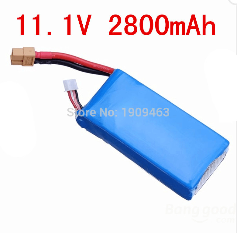 цены  Cheerson CX-20 battery CX20 11.1v 2800mah li-po battery For cx 20 rc quadcopter spare parts wholesale Free Shipping Shuang He