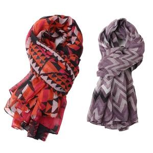 Image 2 - חתיכה אחת נשים פרחוני מודפס חיג אב צעיף oversize ויסקוזה צעיף ראש כורכת רך ארוך שבטי המוסלמי hijabs גנב