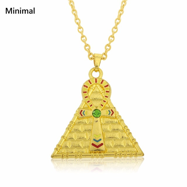 Teamer 2018 fashion Pendant Pyramid Egyptian Jewelry Male Necklace