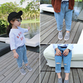 child hole jeans 2017 spring boy girl child trousers children's clothing baby trousers
