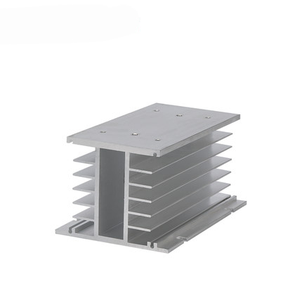 Three phase solid state relay radiator SSR solid radiator 10-120a suitable for aluminum radiator normally open single phase solid state relay ssr mgr 1 d48120 120a control dc ac 24 480v