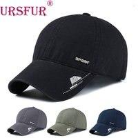 URSFUR Spandex Elastic Fitted Hat Sunscreen Baseball Cap Men Or Women Sport Casquette Bone Casquette Sports