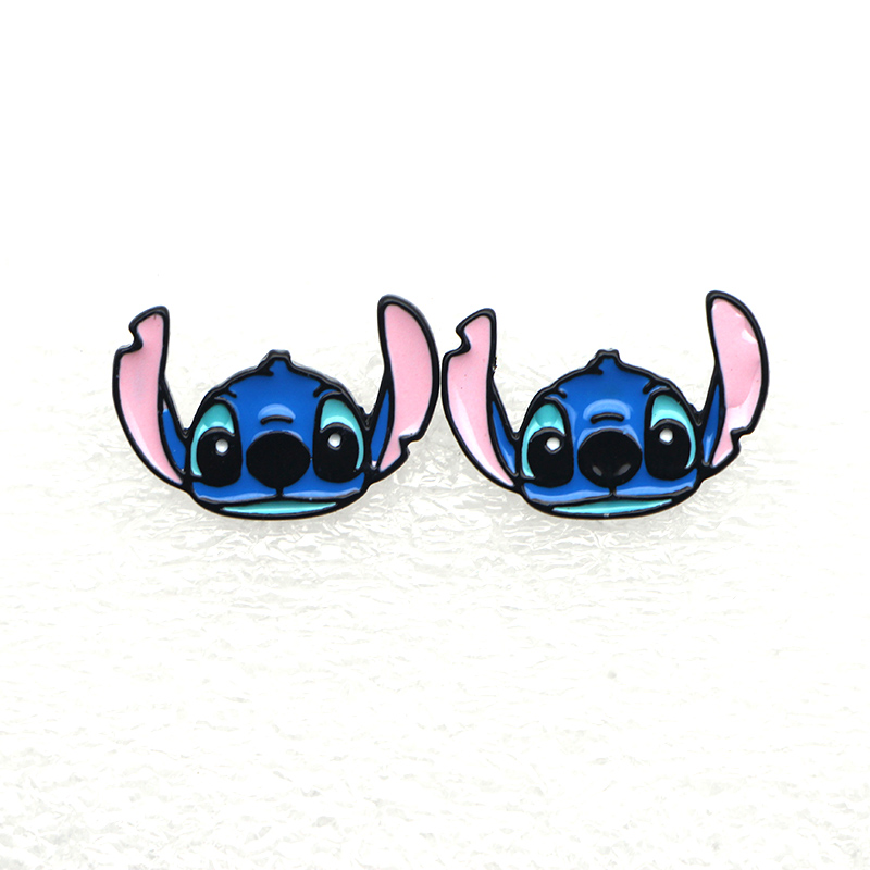 WS0896 Nuovo 1 paio Cartoon Stitch Earings Cartoon Donna Ragazza Bambini bambini Regali belli